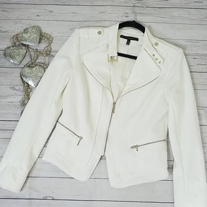 White House Black Market Moto Jacket Size 6